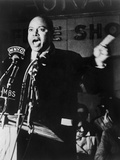 James Farmer  Co-Founder of Congress of Racial Equality  Speaking in Harlem  1965