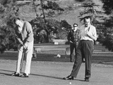 Richard Nixon Playing Golf with His Celebrity Friends Fred Macmurray and Bob Hope Jan 18 1970