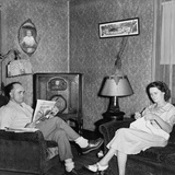 West Virginia Coal Miner's Home Has a Radio and Electric Lights in 1938