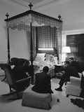 Bedroom Meeting with President Lyndon Johnson  April 27  1966
