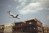 Jet Liner Coming in For Landing at Logan Airport in East Boston June 1973