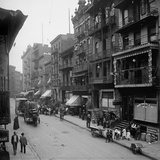 Mott Street in NYC's Chinatown with People in Asian and American Dress  Ca 1900