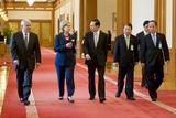 Robert Gates and Hillary Clinton with South Korean President Lee Myung-Bak  2010