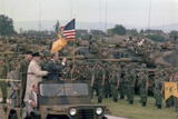 Present Jimmy Carter and Helmut Schmidt Review Nato Troops  July 15  1978