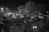 Farmers Protest by Driving Tractors Down Pennsylvania Avenue  Dec 14  1977