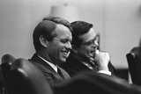 Sen Robert Kennedy and Ted Sorenson after LBJ Withdrew from Presidential Race  68