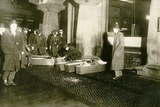 Triangle Shirtwaist Fire Victims in Coffins on the Sidewalk March 15  1911