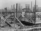 Wood Frame Construction of the Counsel of National Defense Headquarters in Washington  DC in 1917