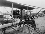 Glenn Martin Delivering Newspapers in His Airplane  1911