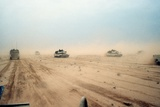 Abrams Tanks of the 1st Armored Division During Operation Desert Storm  Feb 1991