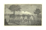 Soldiers Burning an Indian Encampment  from Lewis and Clark's Journal  1803-6