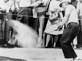 Jack Nicklaus Hitting Golf Ball Out of Sand Trap in 1965