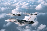 Three F-14 Tomcats Fighters Enforcing the No-Fly-Zone over Southern Iraq  1998