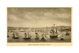 First Barbary War 1801-1805 Preble's Squadron Attacking Tripoli
