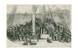 Deck of the Immigrant Ship Artesisia in a Harbor in Europe or North America  1855