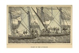 First Barbary War 1801-1805 Fight of the American and Barbary Gunboats