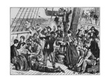 Emigrants on the Deck of an Immigrant Steamship to Canada  in 1871
