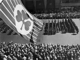 Flag with Shamrock Flies Above Fifth Avenue as Saint Patrick's Day Parade  1961