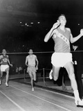 Olympic Champion  Billy Mills  Wins the Three-Mile Run Madison Square Garden  1965
