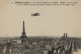 The Wright Biplane Flown by Charles  Comte De Lambert Flying over Paris  Ca 1910