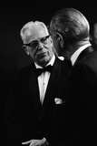 Chief Justice Earl Warren Speaking with President Lyndon Johnson  May 11  1968