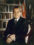 President Richard Nixon in an Official Portrait Taken in the Oval Office July 8 1971