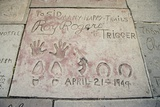 Cowboy Actor Roy Roger's Hand and Footprints Grauman's Chinese Theatre  2006
