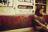 New York City Subway Car Interior Covered with Spray Painted Graffiti May 1973