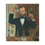 Louis Pasteur French Chemist and Microbiologist  in His Laboratory  Ca 1880s