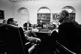 Lyndon Johnson Meeting with Civil Rights Leaders at the White House  March 16  1966