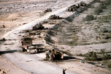 Iraqi Armored Column During Operation Desert Storm  Mar 4 1991