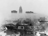 Smog Obscures View of Downtown High-Rises  Los Angeles  California  Nov 22  1966