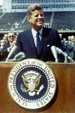 President Kennedy Speaking at Rice University  Sept 9  1962