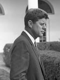 President John Kennedy in the White House Rose Garden Oct 24  1961