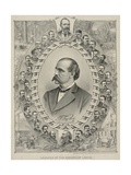 Terence Powderly and 32 Portraits of Leaders of the Knights of Labor  1880s