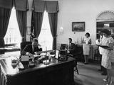 President Kennedy Speaks to Veterans' Organization by Telephone  Aug 8  1972