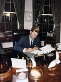 President Kennedy Signing Cuba Quarantine Proclamation  Oct 23  1962