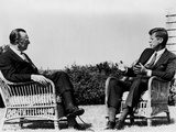 President Kennedy Is Interviewed by Newsman Walter Cronkite at Hyannis Port  1963