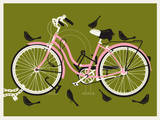 Girl Bird Bike