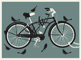 Boy Bird Bike Grey