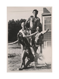 Oldenburg  Rauschenberg and Others at Scull's East Hampton residence  1968 Archive of American Art