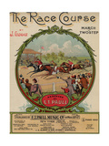 """Sheet Music Covers: """"The Race Course"""" Composed by Jack Glogau and Arranged by E T Paull  1910"""