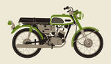1970 Green Motorcycle