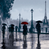 Paris Red Umbrella