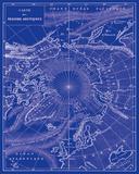 Arctic Map Reproduction d'art par The Vintage Collection