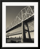 USA  Louisiana  New Orleans  the Greater New Orleans Bridge and Mississippi River