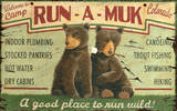 Run-A-Muk Wood Sign