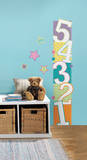 Patterned Numbers Growth Chart Peel and Stick Wall Decals