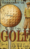 Enjoy Golf Large Wood Sign