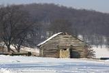 Continental Soldiers' Cabin Reconstructed at Valley Forge Winter Camp  Pennsylvania